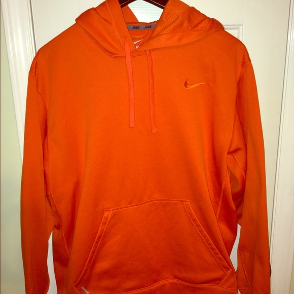 bright orange nike hoodie